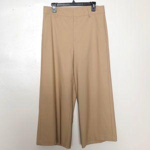 Vince Beige Wide Leg Wool Pants